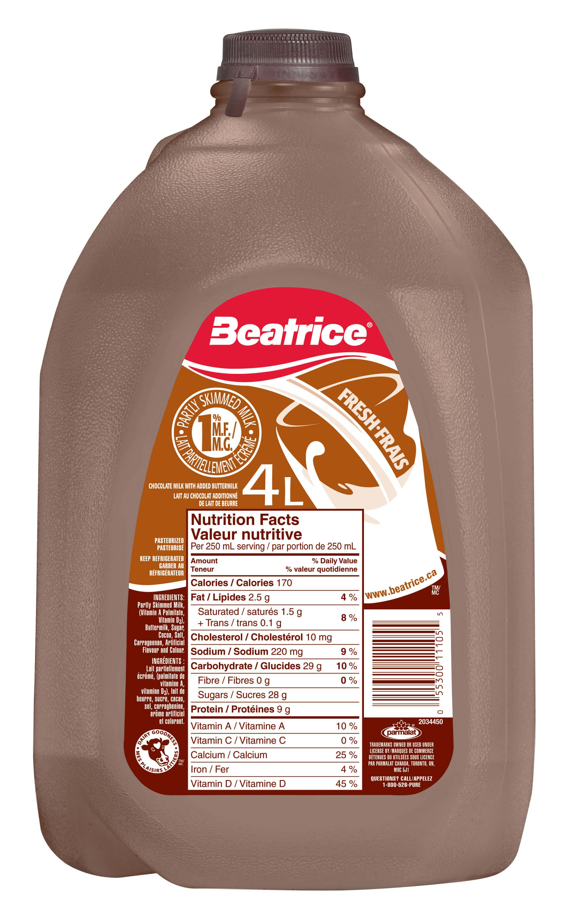 beatrice | west | | chocolate milk 4l